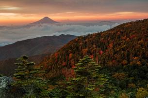 国師ヶ岳 日本 山梨県 山梨市の写真素材 [FYI03393501]