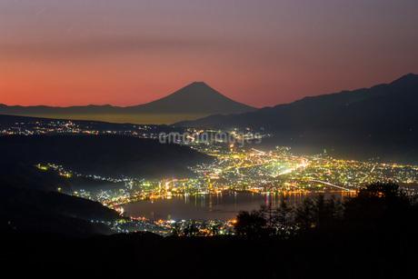 高ボッチ山 日本 長野県 岡谷市の写真素材 [FYI03393510]