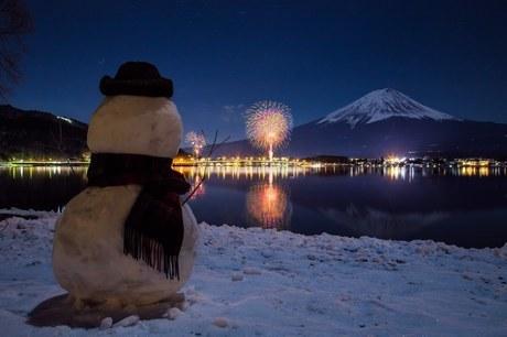 河口湖北岸 日本 山梨県 富士河口湖町の写真素材 [FYI03393524]