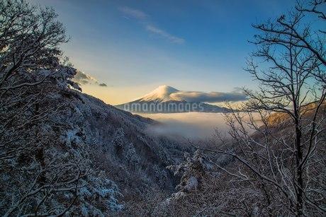 御坂みち 日本 山梨県 富士河口湖町の写真素材 [FYI03393525]