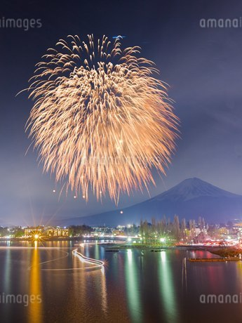 河口湖大橋 日本 山梨県 富士河口湖町の写真素材 [FYI03393526]