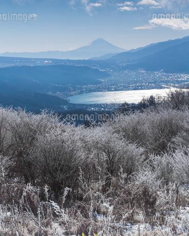 高ボッチ高原より望む富士山の写真素材 [FYI03393575]