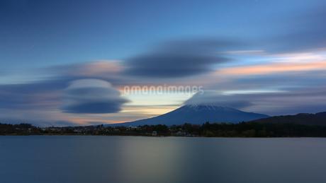 河口湖北岸 日本 山梨県 富士河口湖町の写真素材 [FYI03393578]