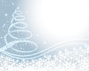 クリスマスツリー 水色背景のイラスト素材 [FYI03393762]
