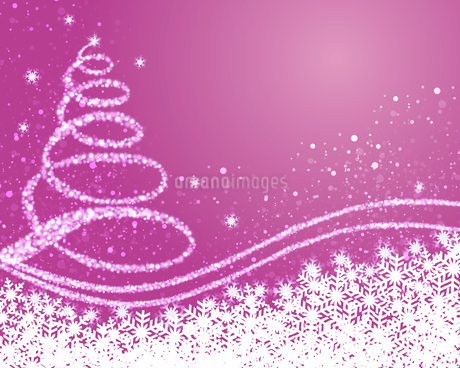background illustration of christmas treeのイラスト素材 [FYI03393932]