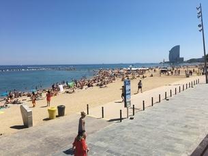 スペインの海の写真素材 [FYI03394343]