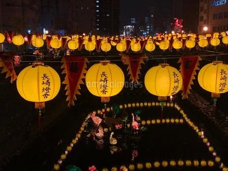 長崎ランタン黄色の写真素材 [FYI03394463]