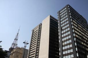 サンパウロのビジネス街の写真素材 [FYI03394543]