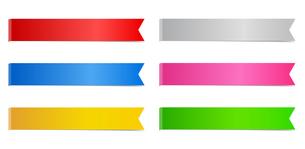 リボンフレーム カラフルセットのイラスト素材 [FYI03395552]