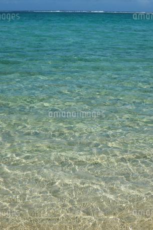 エメラルドグリーンの遠浅の海の写真素材 [FYI03395663]