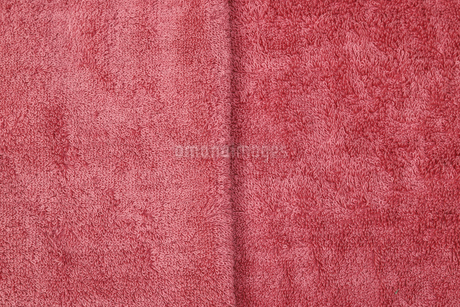 赤いタオルの写真素材 [FYI03395863]