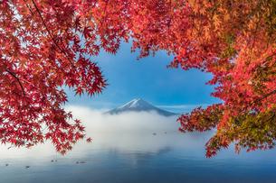 河口湖 日本 山梨県 富士河口湖町の写真素材 [FYI03395963]