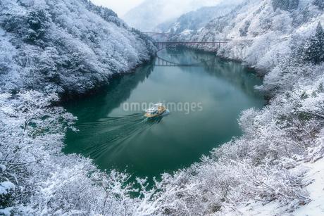 庄川峡 日本 富山県 砺波市の写真素材 [FYI03395972]