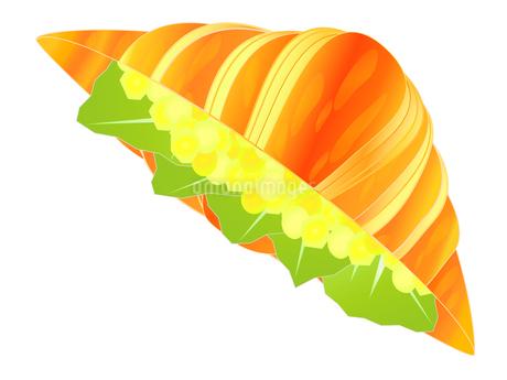 クロワッサンの玉子サンドのイラスト素材 [FYI03396403]