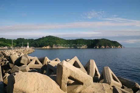 瀬戸内海、荘内半島の小さな港の写真素材 [FYI03396714]