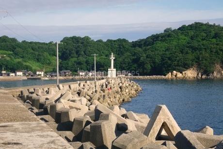 瀬戸内海の小さな漁港の写真素材 [FYI03396715]