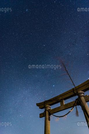 千葉、九十九里の星空の写真素材 [FYI03396926]