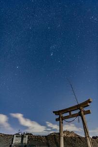 千葉、九十九里の星空の写真素材 [FYI03396929]