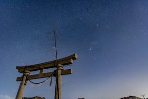 千葉、九十九里の星空の写真素材 [FYI03396931]