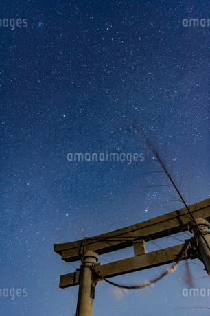 千葉、九十九里の星空の写真素材 [FYI03396938]