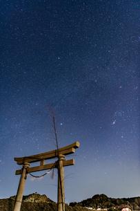 千葉、九十九里の星空の写真素材 [FYI03396949]
