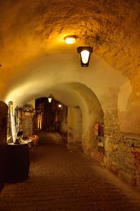 カタリーナの小路に続く通路脇にある店舗・旧市街は世界遺産の写真素材 [FYI03397089]