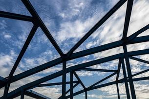 トラスの橋の写真素材 [FYI03397132]