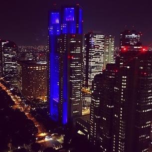 都会の美しい夜景の写真素材 [FYI03398151]