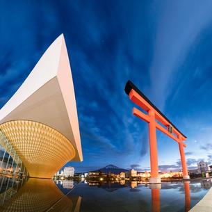 静岡県富士山世界遺産センター 日本 静岡県 富士宮市の写真素材 [FYI03398570]