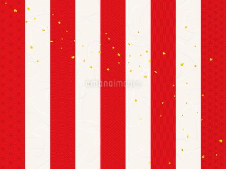 紅白の背景 文様入り(雲母和紙テクスチャ)のイラスト素材 [FYI03399172]