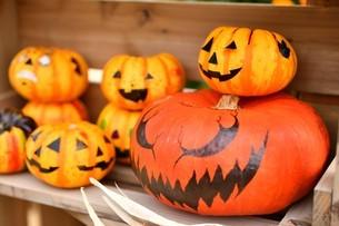 ハロウィンのかぼちゃの写真素材 [FYI03399772]