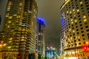 横浜・みなとみらいの夜景の写真素材 [FYI03399796]