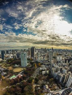東京タワー展望台から見える東京の街並みの写真素材 [FYI03399823]
