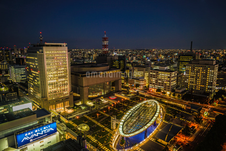 名古屋テレビ塔から見えるオアシス21の写真素材 [FYI03399827]