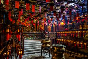 香港・文武廟の写真素材 [FYI03399830]