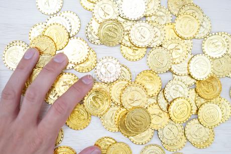 たくさんの金貨の写真素材 [FYI03399836]