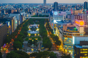 名古屋テレビ塔からの夕景の写真素材 [FYI03399840]