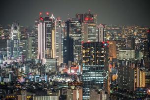 サンシャインシティからの新宿夜景の写真素材 [FYI03399988]