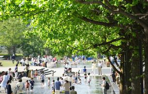 公園の水遊び場の写真素材 [FYI03400740]