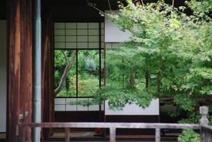 渉成園での日本家屋の写真素材 [FYI03400879]