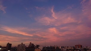 立石の夕日の写真素材 [FYI03400927]