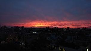 立石の夕日4の写真素材 [FYI03400931]