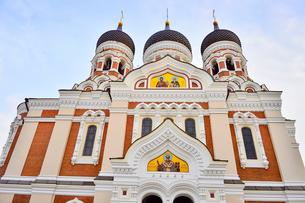 世界遺産歴史地区のタリンの旧市街にあるアレクサンドルネフスキー聖堂・旧市街は世界遺産の写真素材 [FYI03401488]