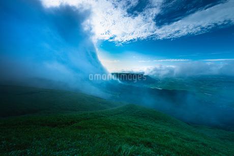 阿蘇市山田 大観峰展望所 日本 熊本県 阿蘇市の写真素材 [FYI03401615]