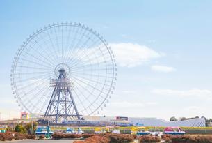 万博公園から見た観覧車と大阪モノレールの写真素材 [FYI03401662]