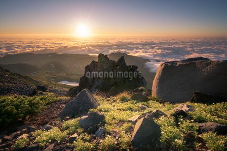鳥海山からの眺め 日本 山形県 遊佐町の写真素材 [FYI03401669]