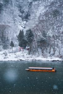 冬の戸沢村 日本 山形県 戸沢村の写真素材 [FYI03401710]
