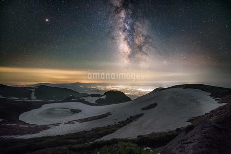 鳥海山からの眺め 日本 山形県 遊佐町の写真素材 [FYI03401784]