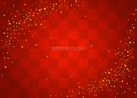和紙テクスチャと市松模様 金粉のイラスト素材 [FYI03401954]
