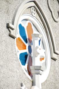 崎津教会のステンドグラスの写真素材 [FYI03402092]